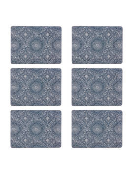 John Lewis & Partners Persia Placemats, Blue, Set Of 6 by John Lewis & Partners