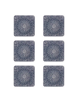 John Lewis & Partners Persia Coasters, Blue, Set Of 6 by John Lewis & Partners