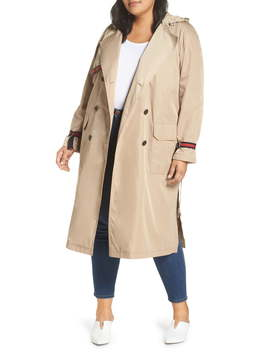 Grosgrain Trim Trench Coat by Rachel Rachel Roy