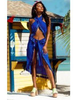 Cobalt Cross Over Halterneck Bikini Top by Prettylittlething
