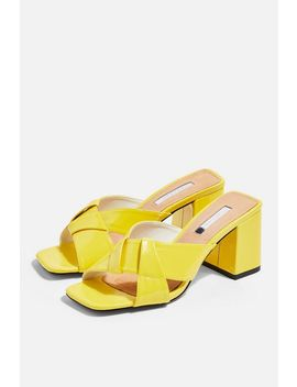 Roux Neon Cross Strap Mules by Topshop