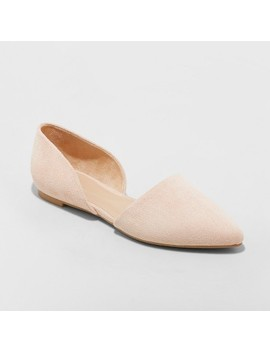 Women's Rebecca Pointed Two Piece Ballet Flats   A New Day Blush 8 by A New Day Blush 8