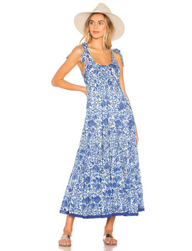 Kikas Printed Midi Dress by Free People