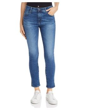 Farrah High Rise Ankle Skinny Jeans In Crystal Clarity by Ag