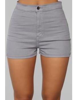 Change Your Mind Shorts   Grey by Fashion Nova