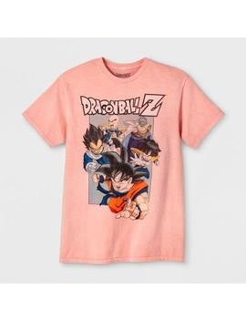 Men's Dragon Ball Z Short Sleeve Graphic T Shirt   Salon Pink by Shirt
