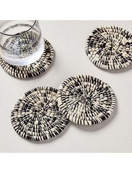 Natural Woven Coasters (Set Of 4) by West Elm
