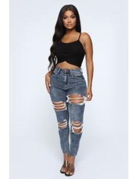 Fly Me Out Skinny Jeans   Dark Denim by Fashion Nova