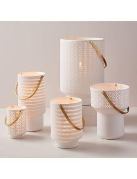 Modern Porcelain Hurricanes by West Elm