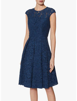 Gina Bacconi Patsey Lace Dress, Navy by Gina Bacconi