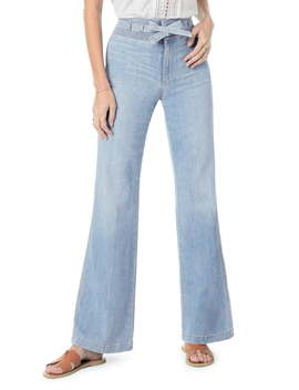 The High Rise Belted Flare Jeans by Joe's