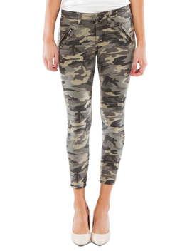 Connie Camo Zip Pocket Ankle Skinny Jeans by Kut From The Kloth
