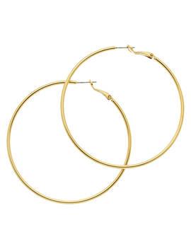 Melissa Odabash Large Hoop Earrings, Gold by Melissa Odabash