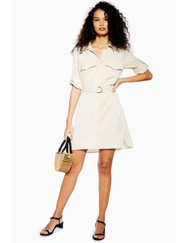 Stone Utility Shirt Mini Dress by Topshop