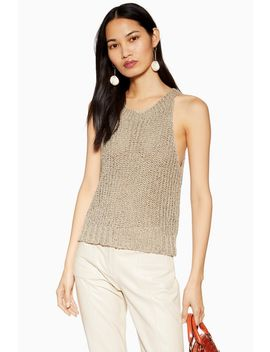 Sage Crochet Tank Top by Topshop