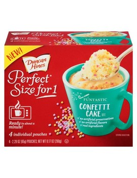Duncan Hines Perfect Size For 1 Confetti Cake Mix   9.17oz/4ct by 9.17oz/4ct