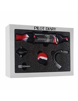 "Pilot Diary Silicone Honey Straw Water Filtering 8.5"" Red/Black Full Kit Gift Pack by Pilot Diary"