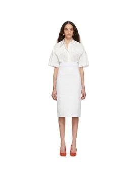 White Leather 'forever Fendi' Skirt by Fendi