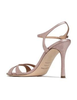 Metallic Leather Sandals by Sergio Rossi