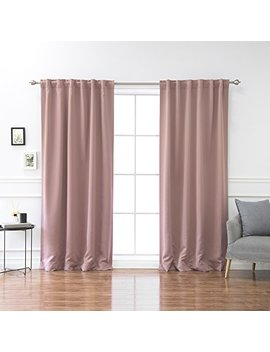 """Best Home Fashion Premium Thermal Insulated Blackout Curtains   Back Tab/ Rod Pocket   Mauve   52""""W X 84""""L   (Set Of 2 Panels) by Best Home Fashion"""