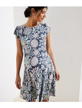 Maternity Garden Crossover Back Flutter Dress by Loft