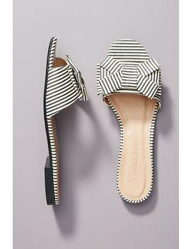 Raphaella Booz Striped Slide Sandals by Raphaella Booz