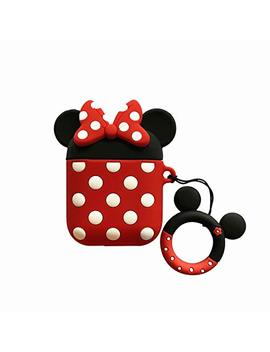 Airpods Case, Airpods Mickey Mouse Case, Charging Drop Proof Silicone Protective Case Cover For Apple Airpods (Minnie) by Akxomy