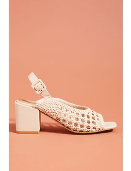 M4 D3 Lane Woven Heeled Sandals by M4 D3
