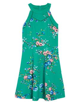 Floral Skater Dress by Trixxi