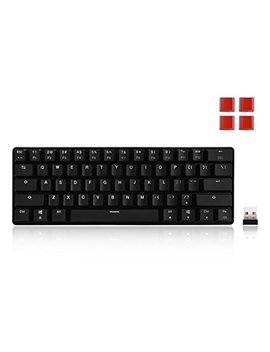 Velocifire Mini Size Wireless Mechanical Keyboard, 61 Key With Outemu Brown Switches For Copywriter, Typist And Programmer(No Backlit) by Velocifire