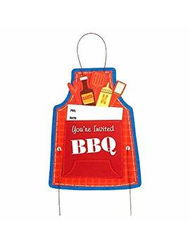 """Amscan Chefs Apron 8"""" X 6"""" Jumbo Party Invitation Card (Pack Of 8), Red, 6"""" X 8"""" by Amscan"""