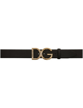 Black Large Logo Belt by Dolce & Gabbana