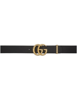 Black Leather Torchon Gg Belt by Gucci