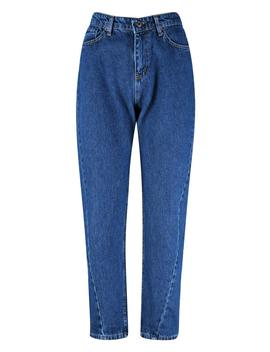High Waist Twist Seam Mom Jeans by Boohoo