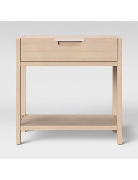 Porto Nightstand With Drawer Bleached Wood   Project 62 by Project 62