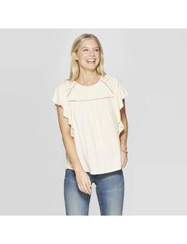 Women's Short Sleeve Scoop Neck Blouse   Knox Rose by Knox Rose