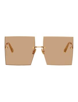 Orange 'les Carrés Riviera' Sunglasses by Jacquemus
