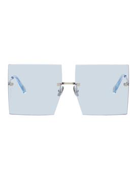 Blue 'les Carrés Riviera' Sunglasses by Jacquemus