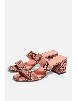 Darla Pink Strap Mules by Topshop