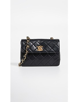 Chanel Half Flap Micro Bag by What Goes Around Comes Around