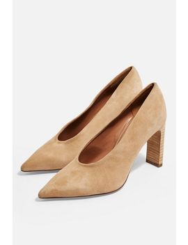 Glory Tan Set Back Heels by Topshop