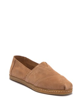 Classic Alpargata Suede Slip On Sneaker by Toms