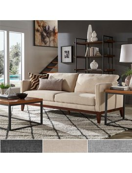 Carson Carrington Siauliai Linen Upholstered Sofa And Loveseat by Carson Carrington