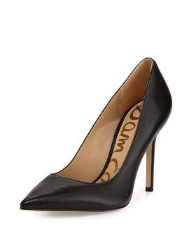 Sam Edelman Hazel Pointed Toe Leather Pumps, Black by Sam Edelman