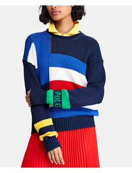 Sailboat Flag Cotton Sweater by Polo Ralph Lauren