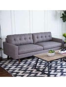 Abbyson Donovan Mid Century Fabric Sofa by Abbyson