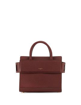 Horizon Mini Leather Satchel Bag, Medium Brown by Givenchy