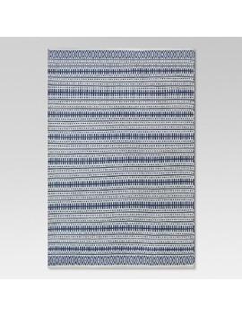 Pattern Stripe Outdoor Rug Blue   Threshold by Threshold
