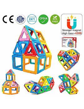 Jasonwell 42 Pcs Magnetic Tiles Building Blocks Boys Girls Magnetic Building Set Preschool Educational Construction Kit Magnet Stacking Toys Kids Toddlers Children by Jasonwell