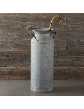 Galvanized Umbrella Stand by Williams   Sonoma